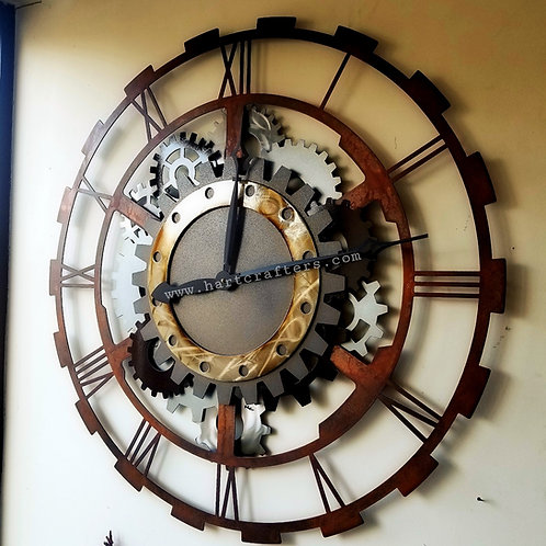 Industrial Design Gear Clocks