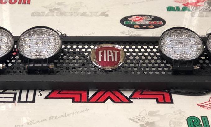 Maschera fendinebbia panda logo FIAT 4 fari rotondi