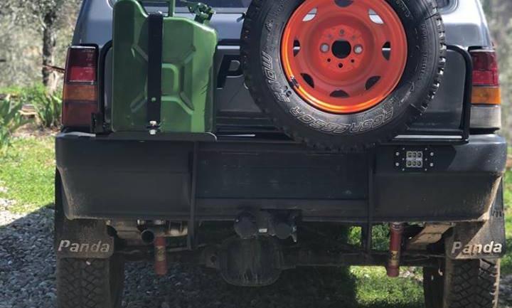 Cancelletto porta tanica e ruota di scorta panda 4x4 prima serie