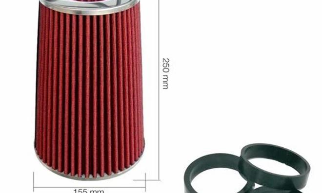 Filtro biconico cotone rosso
