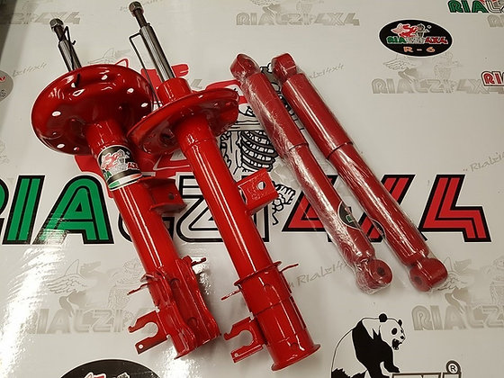 Complete shock absorbers Kit +3.5 cm raised height Panda 4x4 / cross from 2013