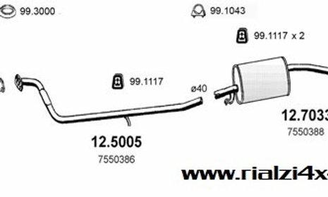 Kit completo scarico panda 4x4 dal 1988 al 1993