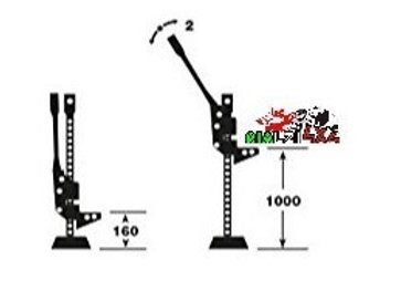 Mechanical steel jack for lifting-traction up to 3T - lifting height starting from 16 cm