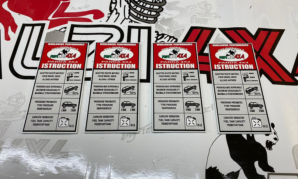 Targhetta istruzioni interna Panda 4x4