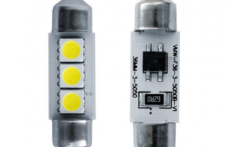 Kit 2 lampadine siluro 3 microled