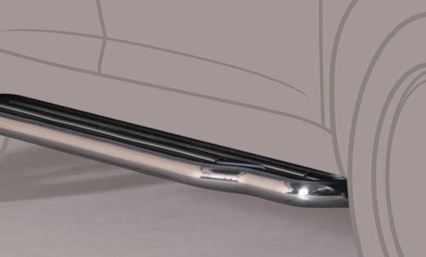 Pedane sottoporta inox Suzuki Jimny 98-05 Ø 50mm
