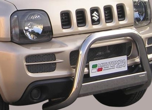Approved stainless steel bull bar Suzuki Jimny 06-12 Ø 63mm