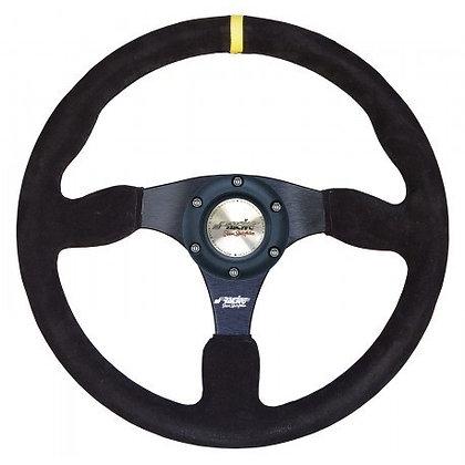 Universal steering wheel in suede