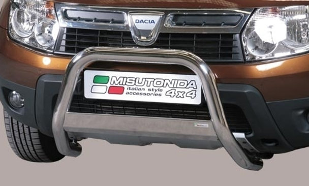 Bull bar inox omologato Dacia Duster 2010 > Ø 63mm