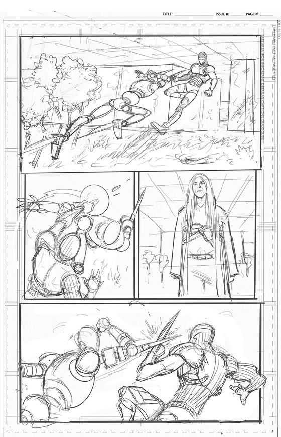 Layout Pages 4, 5, 6 and 10 for BPG Comic Book