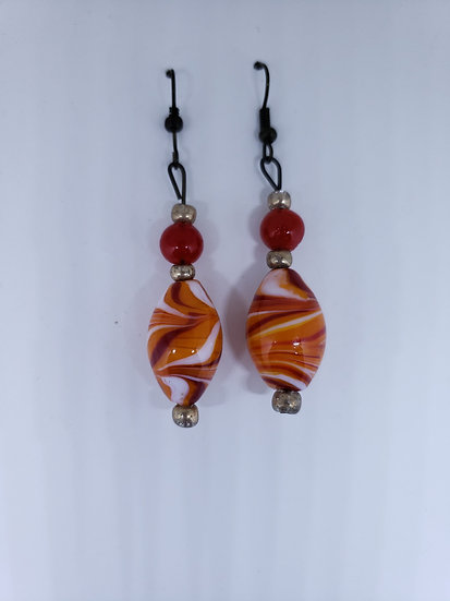 Rustic red and orange swril