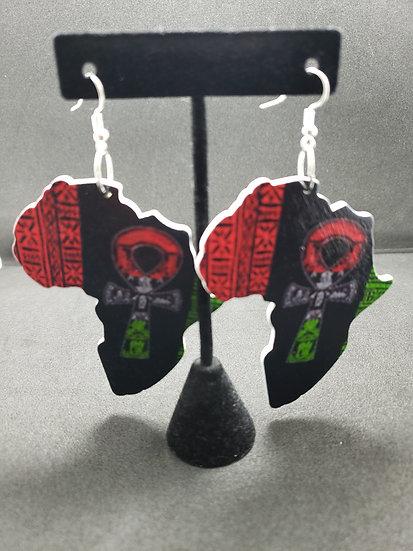 Africa Ankh Earrings
