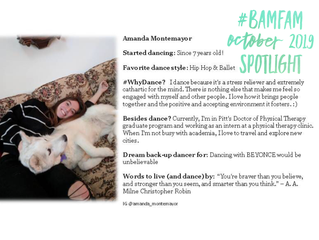 October 2019 #BaMFaM Spotlight: Amanda Montemayor