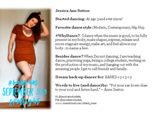 September 2019 #BaMFaM Spotlight: Jessica Ann Sutton