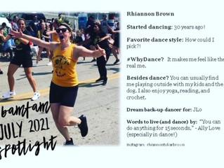 July 2021 #BaMFaM Spotlight: Rhiannon Brown