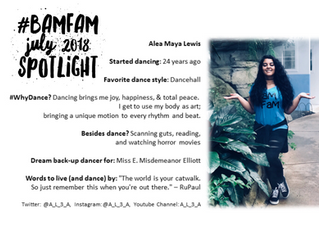 July 2018 #BaMFaM Spotlight: Alea Maya Lewis