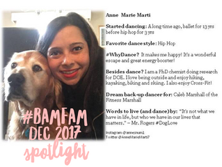December 2017 #BaMFaM Spotlight: Anne Marie Marti