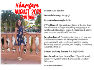 August 2019 #BaMFaM Spotlight: Lauren Ann Sciullo