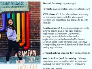May 2021 #BaMFaM Spotlight: Kate Denman