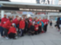 Red Power Divas at the Run for Super Bowl 50