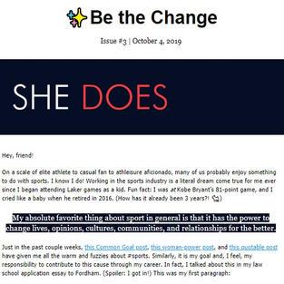 SHE DOES Newsletter