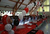arche de buffet à l'hélium mariage