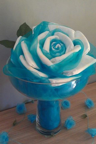 "bouquet  en forme de ""Rose"""