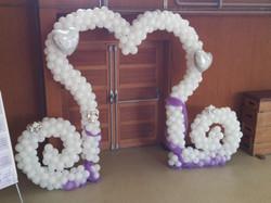 arche ballons coeur