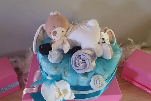 "gateau de couches ""Doudou musical"""