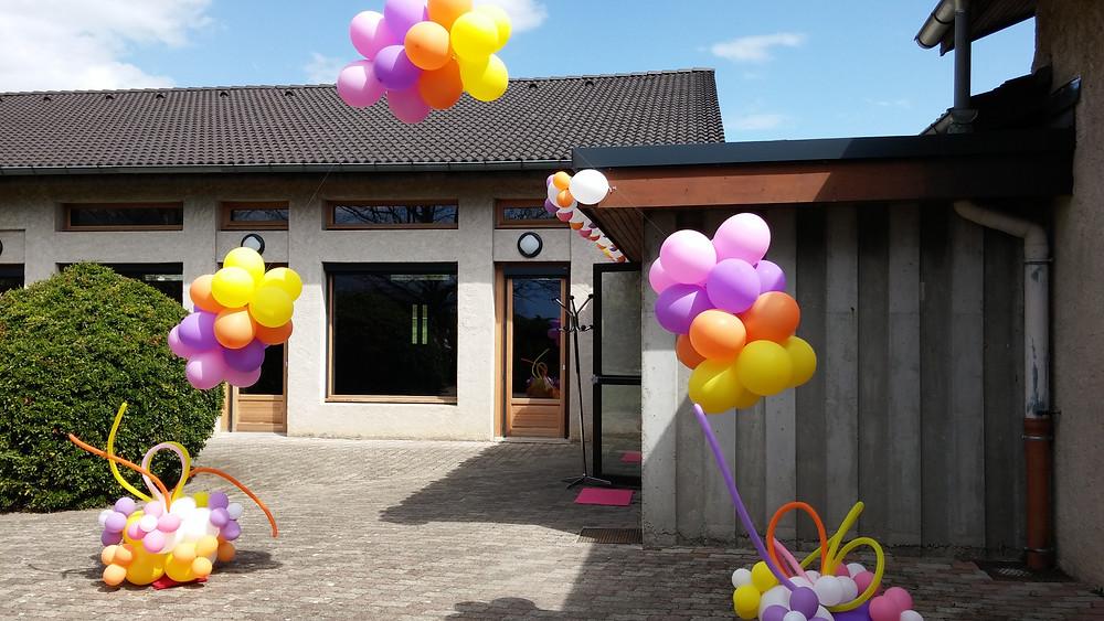 arche ballons hélium extérieur