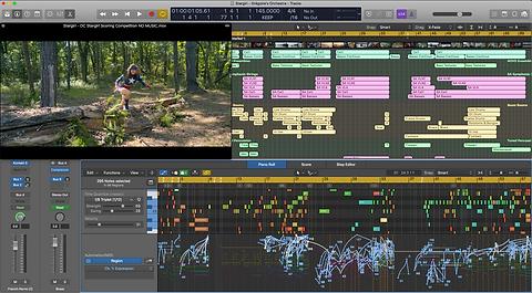 Logic Pro X workspace // Grégoire Pearce // Film and Media Composer