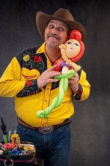 Arizona Rick, Balloon Cowboy with a balloon creation.