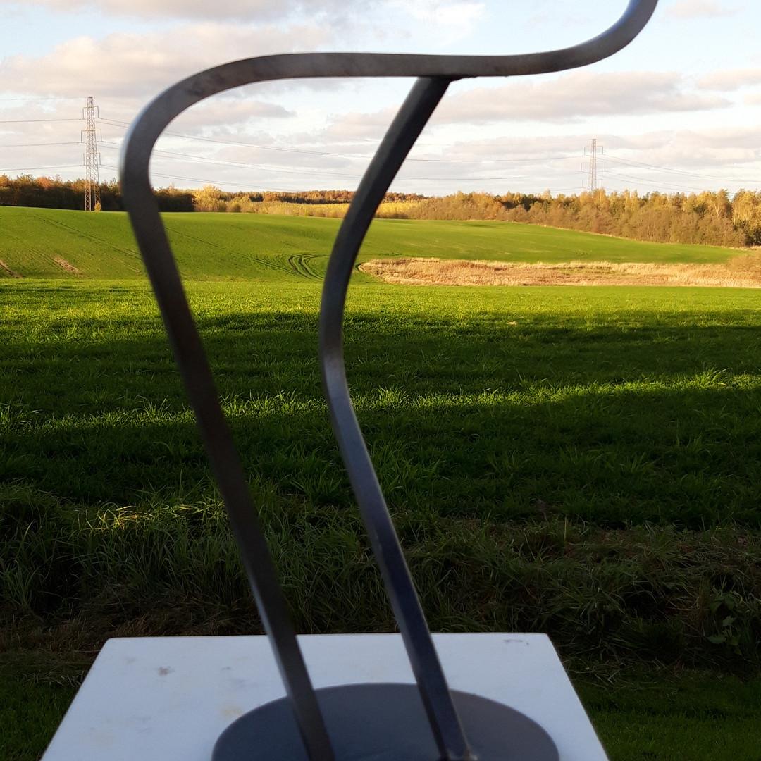 sculpture of iron