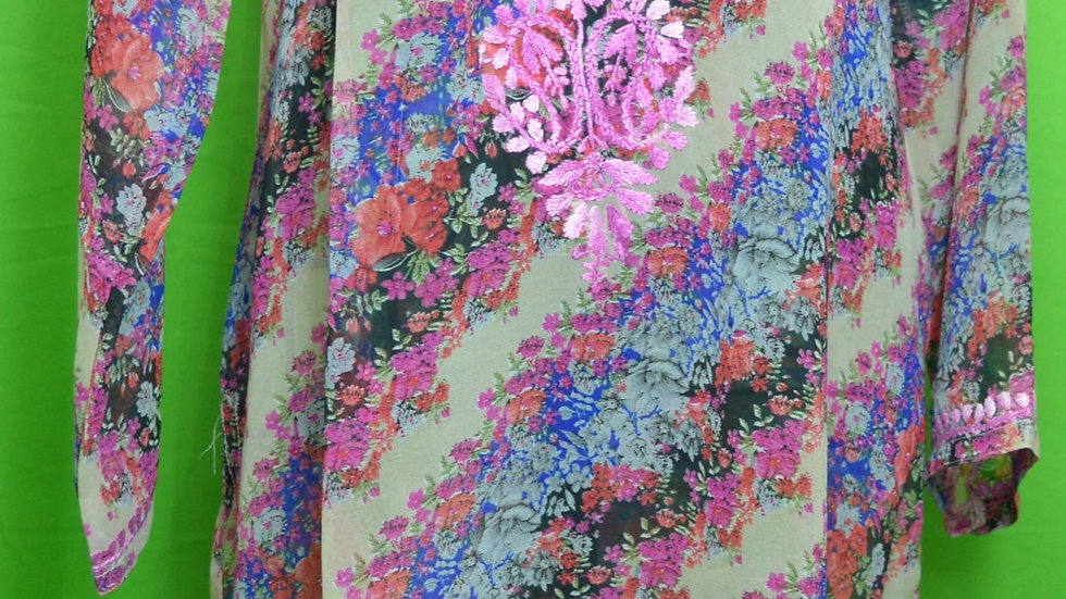 printed geogget long kurta