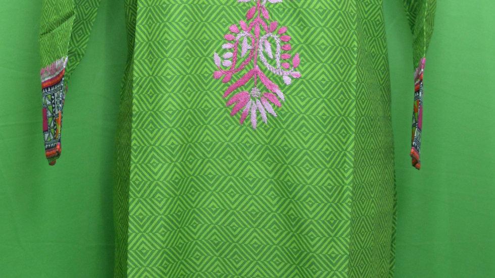 printed malmal  tunic top