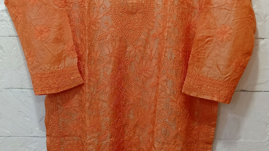pure silk long kurta