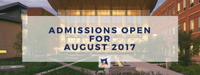 Admissions open now for the 2017 class (