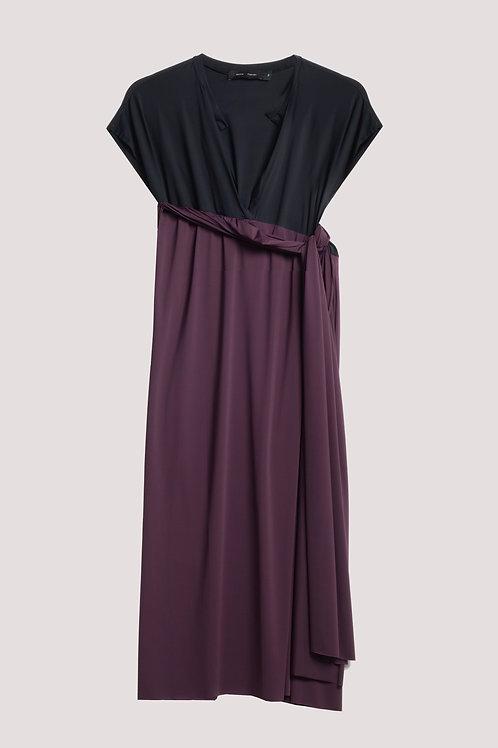 Vestido franzido Olívia