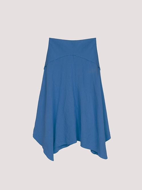 Saia Midi Celina Azul Jeans