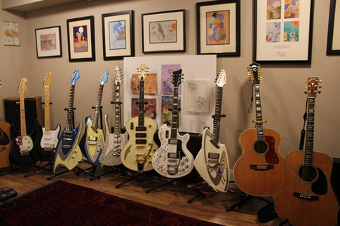 More guitars, including the 'Astroluxe Custom' and the Prize Draw guitar that Dave won!