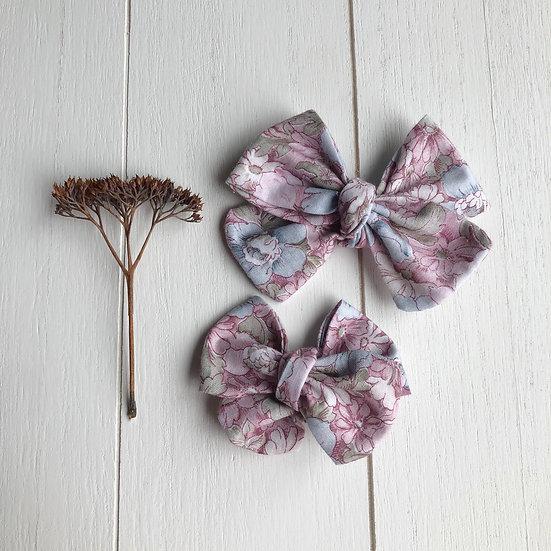 Fleurs blush et kaki