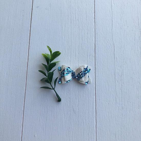 Duo de minis bleus et blancs paillettes