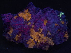 Quartz Crystals on Calcite - San Antonio Mine, Chihuahua, Mexico