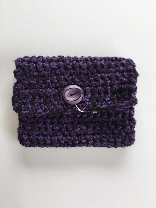 Purple coin purse