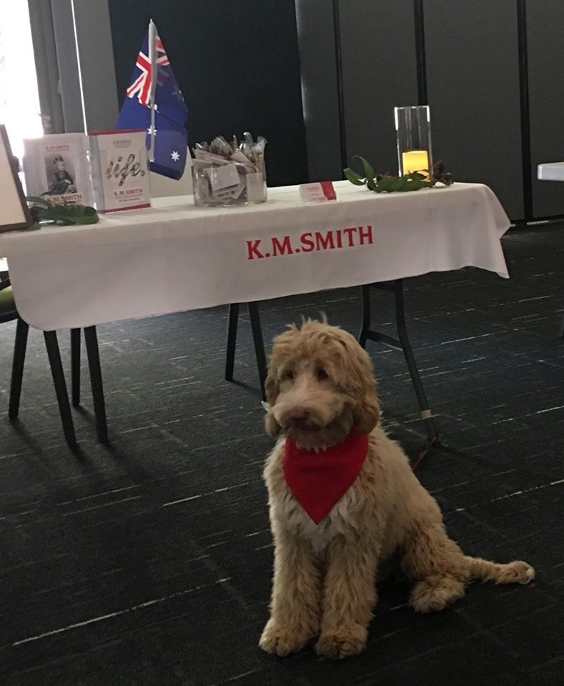 Caramel Abstract Labradoodle & K M Smith Funerals