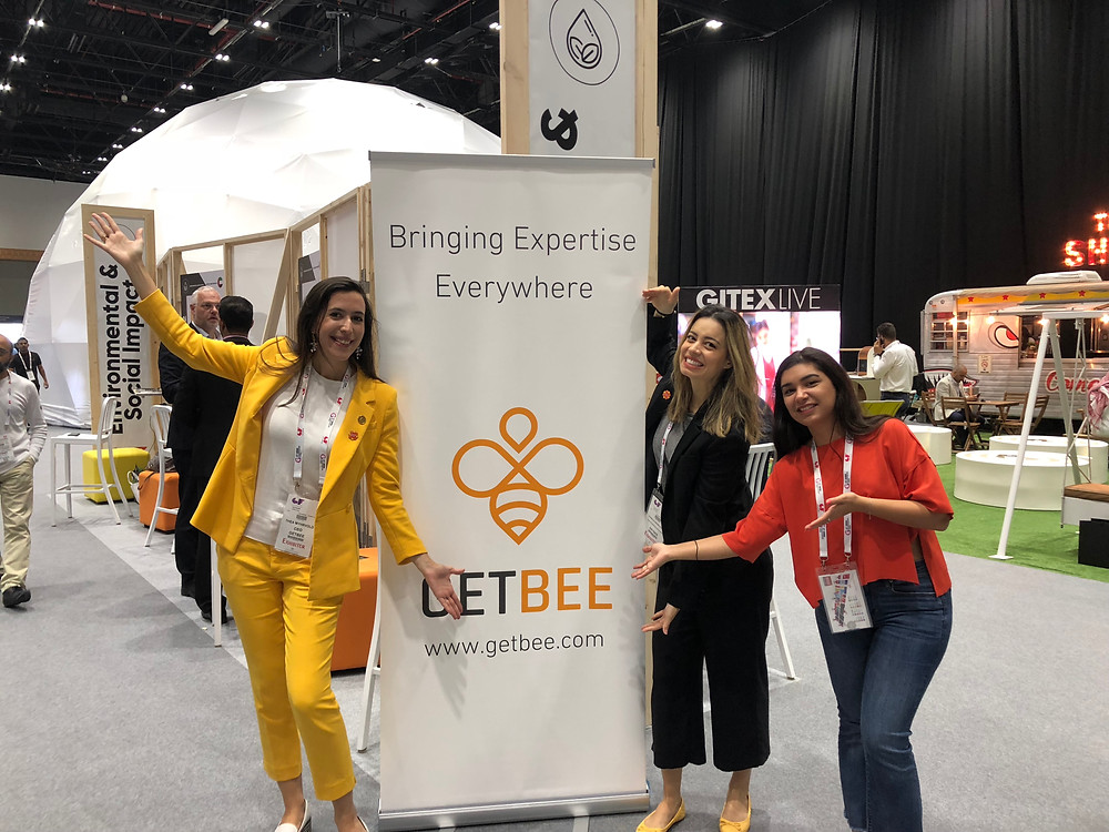 Part of the GetBEE team in front of the GetBEE pod.