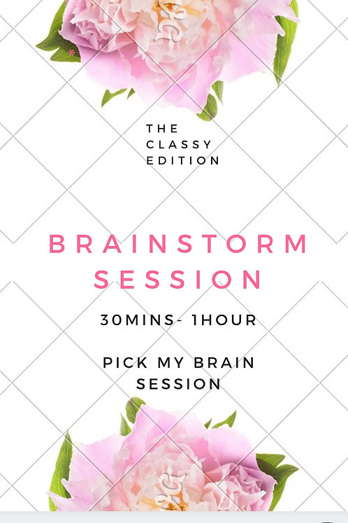 Pick my brain session