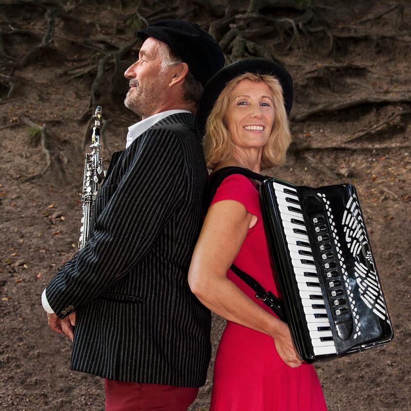 Koncert i haven med Klezmer Duo, Henrik Bredholt og Ann Maibritt Fjord