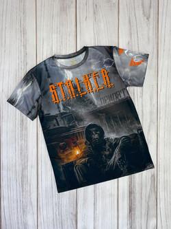 3Д  футболка с полной запечаткой, спортивный трикотаж