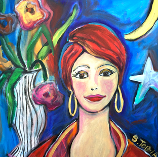 Lady With Moon
